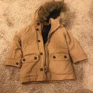 GAP khaki puffy jacket